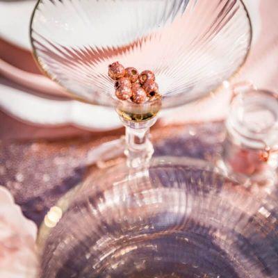 24 Petites Perles en Bois - Paillettes Rose Gold | JOURDEFETE.COM