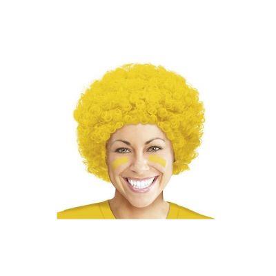 perruque-bouclee-jaune-fun-pas-cher | jourdefete.com
