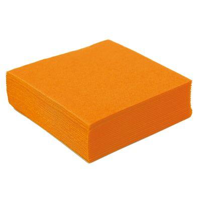 50 Petites Serviettes Microgaufrées - Orange