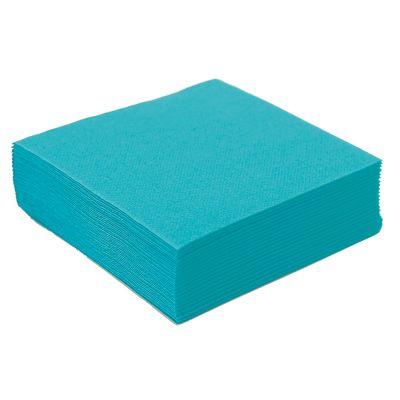50 Petites Serviettes Microgaufrées - Turquoise