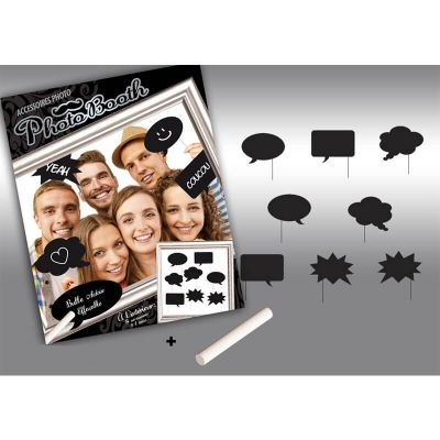 Kit photo Booth personnalisable ardoises
