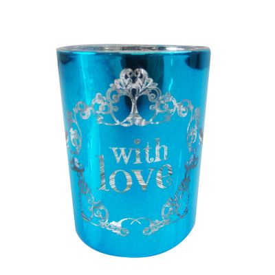 Photophore Vintage With Love Turquoise