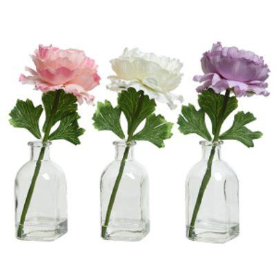 Pivoine dans Vase en Verre - Couleur au Choix | jourdefete.com