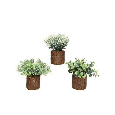 plante en plastique dans un tronc de 14 cm | jourdefete.com