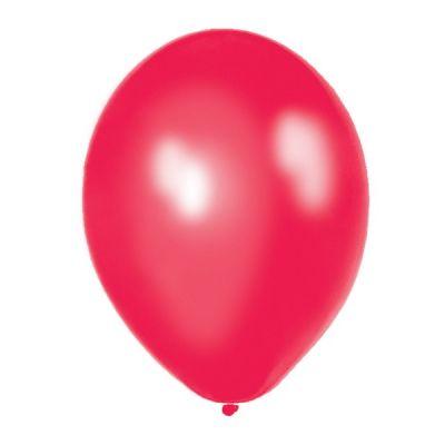 24 Ballons de Baudruche Métallisés Rouge