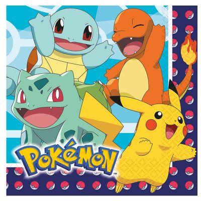 serviettes-papier-pokemon-pikachu|jourdefete.com