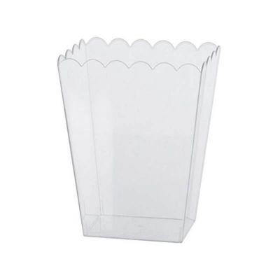 Pot rectangulaire plastique transparent 15.2 cm - Candy Bar   jourdefete.com