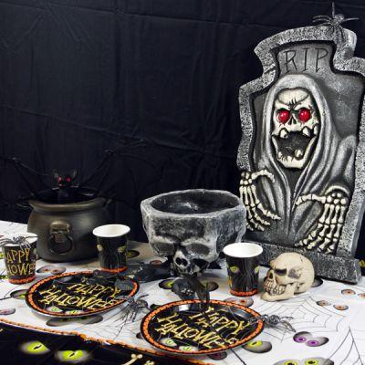 """Décoration Halloween Chaudron """"Tête de Mort"""""""