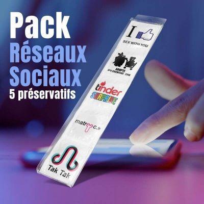 pack 5 preservatifs reseaux sociaux | jourdefete.com