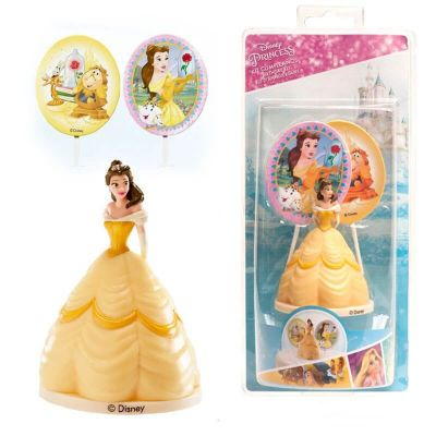 kit déco pour gâteau de Princesse Disney Belle | jourdefete.com