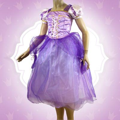 Robe de Princesse Violette Fille