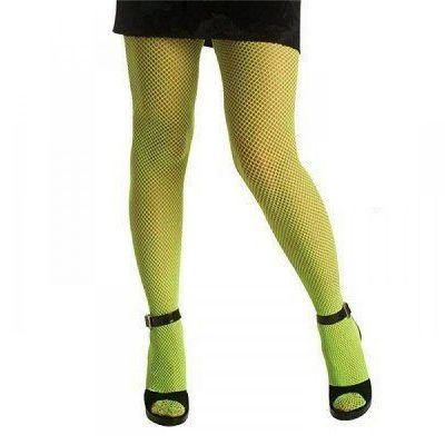 Collants Résille Néon Vert - Taille Unique