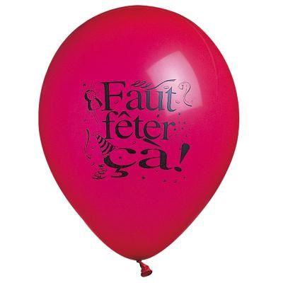 """Ballons """"Faut Fêter Ca"""" Assortis"""