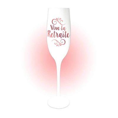 flûte à champagne vive la retraite rose gold | jourdefete.com