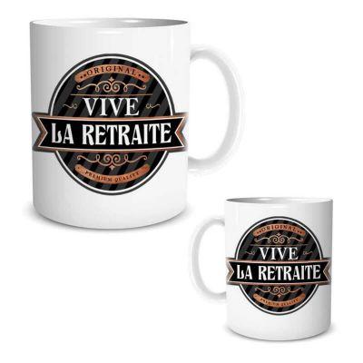mug cadeau vive la retraite | jourdefete.com