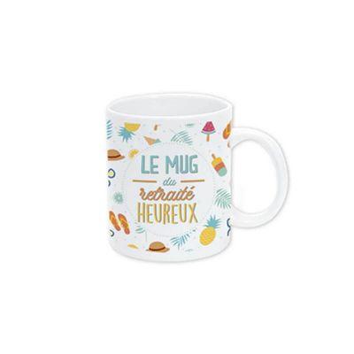 mug-retraite-heureux-cadeau | jourdefete.com