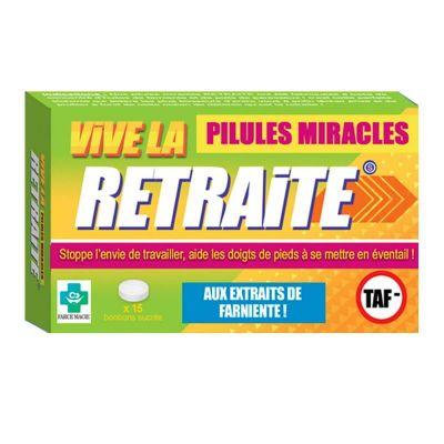 bonbons sucrés pilules miracles retraite | jourdefete.com