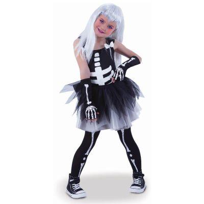 robe tutu squelette pour fille | jourdefete.com