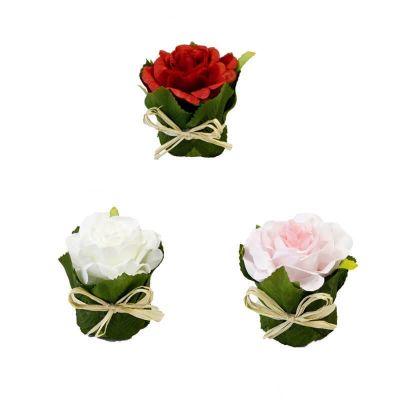 Rose pot feuillage - Coloris au choix   jourdefete.com