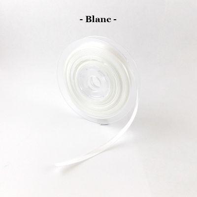 Ruban satin 6mm coloris au choix - Blanc