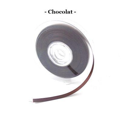 Ruban satin 6mm coloris au choix - Chocolat