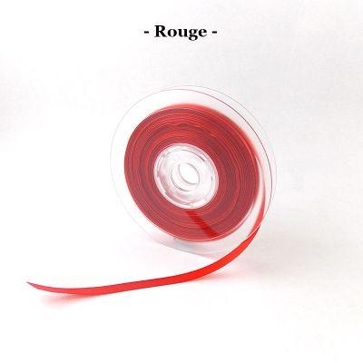 Ruban satin 6mm coloris au choix - Rouge