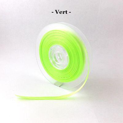 Ruban satin 6mm coloris au choix - Vert