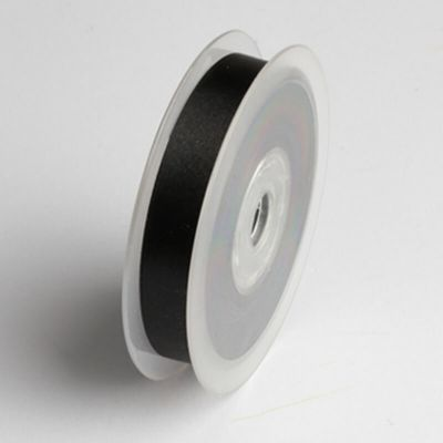 Ruban satin 15mm – Noir