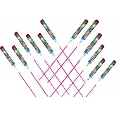 Sachet de 12 Fusées Sifflantes Multicolores   JOURDEFETE.COM