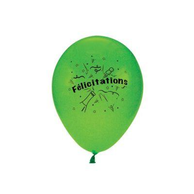 10 Ballons Félicitation Multicolore