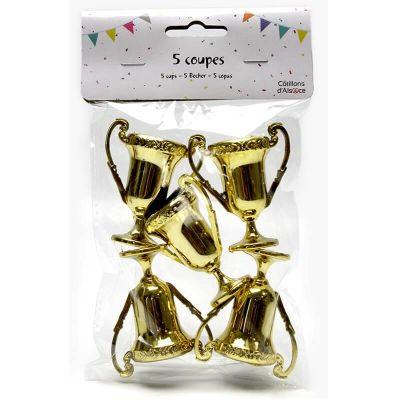 lot de 5 petites coupes dorées | jourdefete.com