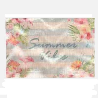 "Set de table 30x45 imprimé ""Summer Vibes"" - Flamant rose 