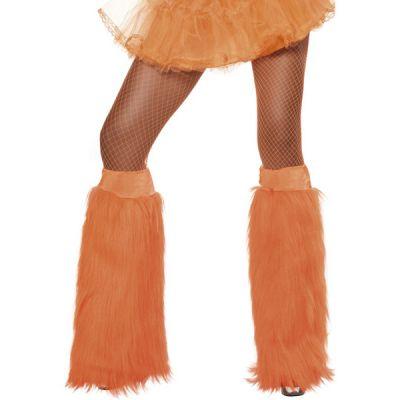 Couvre-bottes Années 80 en Peluche Fluo Orange