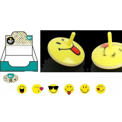 toupie lumineuse collection smiley de 6 cm| jourdefete.com