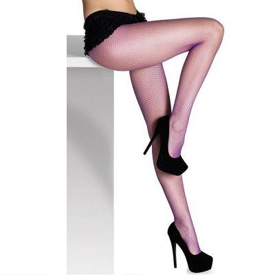 Collants Résille Violet - Taille Unique