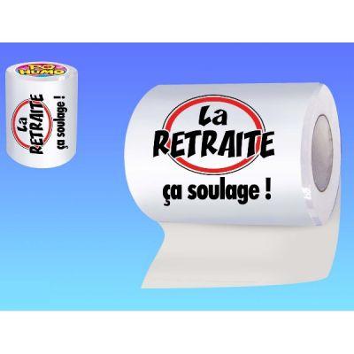 """Papier Toilette """"la Retraite ça Soulage!"""""""