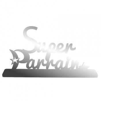 """Décoration """"Super Parrain"""" - Argent"""