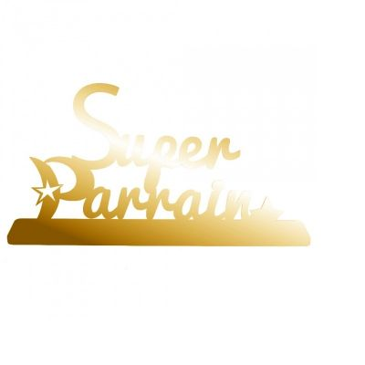 """Décoration """"Super Parrain"""" - Or"""