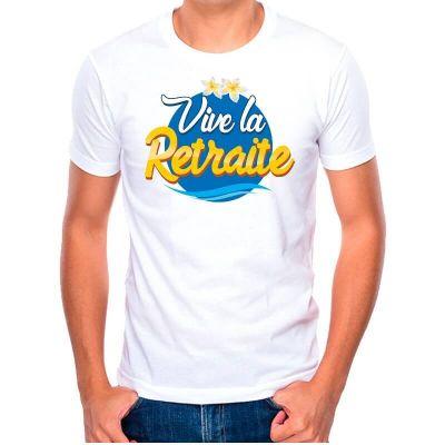 t-shirt à dédicacer retraite pour homme | jourdefete.com