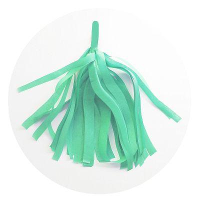Guirlande 5 tassels - Vert d'Eau