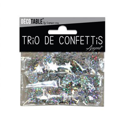 Trio de Confettis - Argent