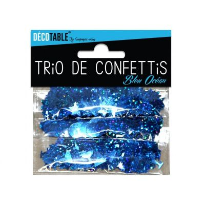 Trio de Confettis - Bleu