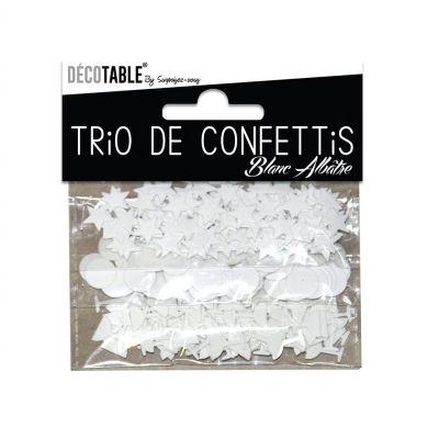 Trio de Confettis - Blanc