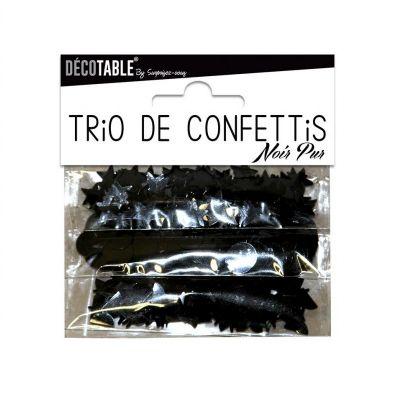 Trio de Confettis - Noir