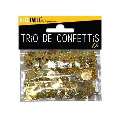 Trio de Confettis - Or