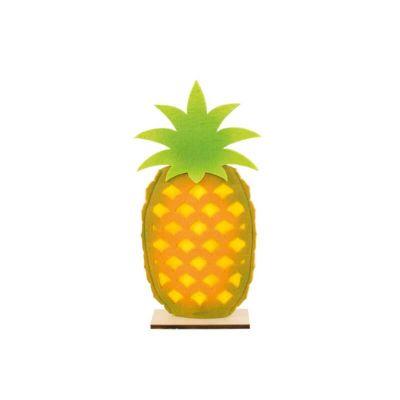Ananas en Feutrine sur Pied en Bois - Tropical | jourdefete.com