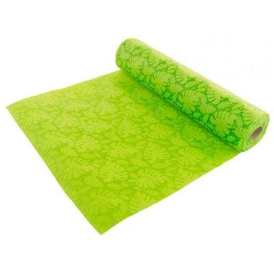 chemin-table-tropical-vert-intisse jourdefete.com