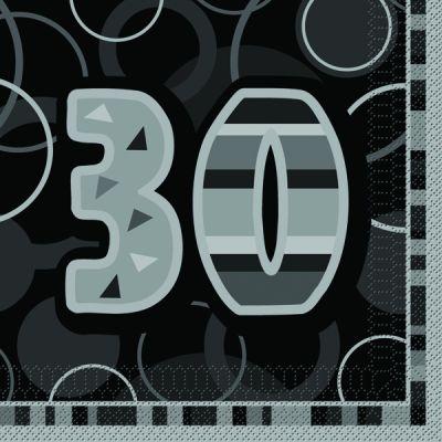 serviette en papier anniversaire 30 ans