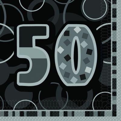 serviette en papier anniversaire 50 ans