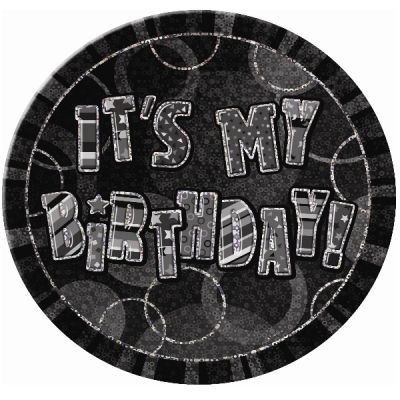 badge anniversaire glitz noir